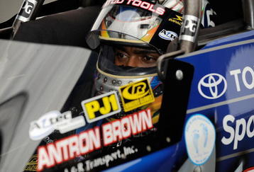 CONCORD, NC - SEPTEMBER 19: Antron Brown, driver of the 