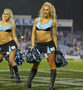 The Cronulla Sharks Cheerleading Squad